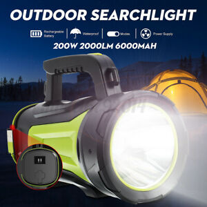 Super bright LED Searchlight Hand Lamp Torch Work Light Rechargeable Spotlight