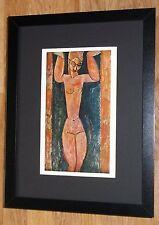 Framed 12''x16'', Modigliani, Caryatid, masters paintings, Rare prints