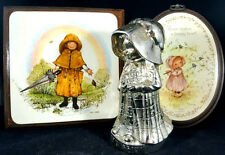 Holly Hobbie Decorative Silver Plated Bank Wood Art Picture Frame 3 Vintage Lot