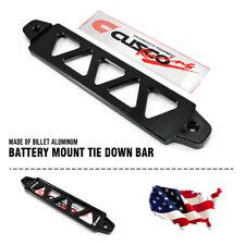 19.5cm Universal Car Billet Aluminum Battery Tie Down Bar Holder Bracket Black