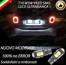 COPPIA LUCI TARGA 9 LED SMART FORFOUR 453 T10 W5W CANBUS 100% NO ERROR