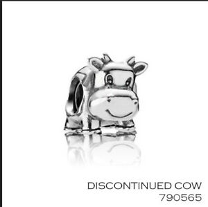 PANDORA Charm Sterling Silver ALE S925 RETIRED COW  790565