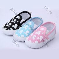 Baby Boys Girls Toddler Shoes Kids Skull Soft Sole Anti-Slip Cotton Crib Shoes