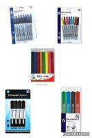 Anker Black Coloured Jumbo Permanent Marker Pen Set 4 8 Pack Plastic Glass Metal
