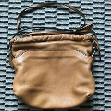 Burberry Little Crush Leather House Check Crossbody Brown Bag
