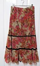 Ladies Peasant styled Floral skirt size 12