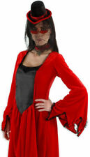 Vampiress Kit Hat Glasses Viel Choker Costume Dress Accessory. ELX1033