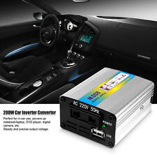 12V DC to AC 220V Car Auto Power Inverter Converter Adapter 200W USB Charger