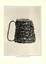 1904 Antique Photograph Print ~ Young Oysters on Tin Lamp