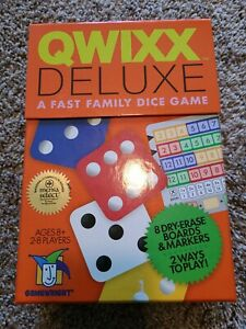 Gamewright Quixx Deluxe A Fast Family Dice Game 2016 NWOT Complete Mensa award