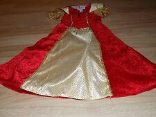 Size Small 6 Princess Paradise Red Gold Velvet Velour Royal Queen Costume Dress