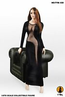 1/6 Scale Female Black Dress Long Skirt Clothes TYM-20 Fit 12'' Phicen Figure