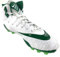 NIKE Force Savage Elite TD Football Cleats Mens Size 16 White and Green