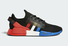 """New Adidas NMD R1 V2 """"Paris"""" Red Black White Blue FY2070 Sneakers Men's Size 9"""