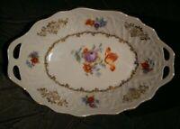"""Bavaria Schumann Germany U.S. Zone - Small Porcelain Oval Dish 7 3/4""""L x 5"""" W"""