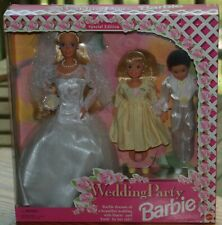 1994 BARBIE Doll Special Edition WEDDING PARTY Doll Set w/ Stacy & Todd Mattel #