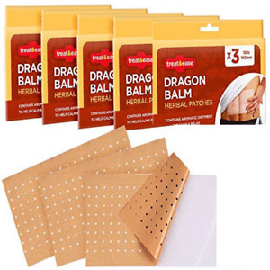 15pk Dragon Balm Herbal Patches Pain Relief Patch Heat Plaster Back Knee Muscle