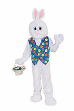 Adult Easter Bunny Mascot Costume Full Body Plush Animal Suit Size Standard