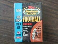 1993 STADIUM CLUB HIGH NUMBER FOOTBALL Set Jerome Bettis Drew Bledsoe