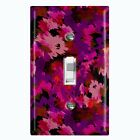 Metal Light Switch Cover Wall Plate Artistic Camouflage Pink Pattern