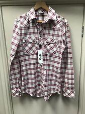 "New D&G Dolce & Gabanna Checked Shirt 15 1/2 39 Pink Red Men's 36"" 38"" Chest"