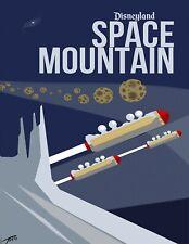 """""""Space Mountain Blue"""" Disney Ride TIN SIGN  Wall Decor"""
