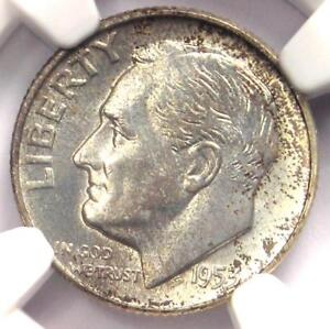 1953-D Roosevelt Dime 10C - Certified NGC MS67 FT - Rare in MS67 FB - $575 Value