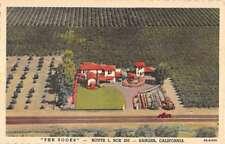 Sanger California Zooks Birdseye View Antique Postcard K83133