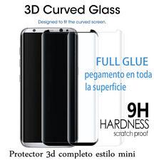 PROTECTOR CRISTAL FULL GLUE CURVADO 3D (Mini) Negro Para SAMSUNG GALAXY S8 Plus