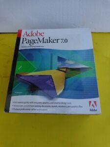 100% Genuine: New Adobe PageMaker 7.0 Full Version for Windows 7; XP or older PC