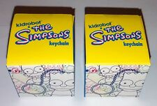 KIDROBOT Simpsons Zipper Pulls Keychains Blind Box Mini Figures Lot Kid Robot