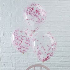 Pink Confetti Balloons - Princess Party - Pink girls party - its a girl baby