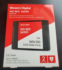 """Western Digital WDS200T 1R0A RED SA500 2TB SATA III 2.5"""" SSD BNIB"""
