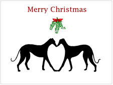 Greyhound Lurcher Whippet Dog Italian Xmas Christmas Cards - Various Pack Sizes
