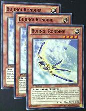 Set 3X BUJINGI RONDINE LVAL-IT028 Comune in Italiano YUGIOH