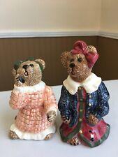 Bearware Pottery Works Boyd's Bears & Friends Louella & Hedda The Salt & Pepper