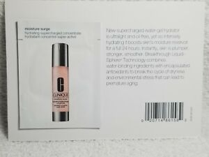 Clinique MOISTURE SURGE Hydrating Supercharged Concentrate Sample Card .03oz New