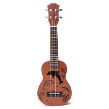 21'' Soprano Ukulele Uke Sapele 15 Frets Musical Instrument Dolphin Rosewood
