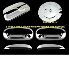 For Ford F150 1997-2003 Chrome Covers Set 2 Doors WITH Keyholes+Gas+Tailgate w/o