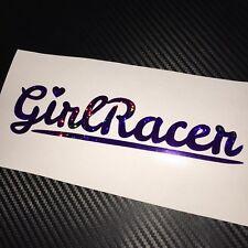 PURPLE HOLOGRAPHIC Girl Racer Heart Car Sticker Decal JDM Vdub Drift Track