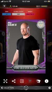 Topps WWE Slam *Digital* 2016 Purple Base Variant Stone Cold Steve Austin 559cc