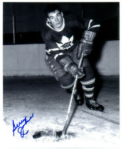 1 -   Toronto Maple Leafs  Autographed Gerry James  Photo  comes with Cert