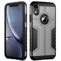 JETech Case for iPhone XR Dual Layer Protective Cover with Shock-Absorption Grey
