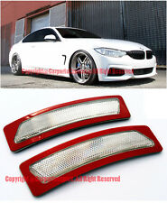 CLEAR Bumper Reflector Side Marker Lights For 14-Up BMW F32 F33 F36 4-Series