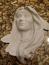 Ceramic Bisque Indian Maiden Plaque, ClayMagic 1198, U-Paint, Ready to Paint
