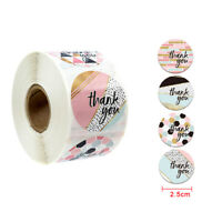 500x/Roll Thank you Stickers Wedding Flower Baking Handmade Adhesive Label 2.5cm