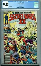 SECRET WARS II #9 CGC 9.8 WP RARE NEWSSTAND version NEW CASE MARVEL COMICS 1986