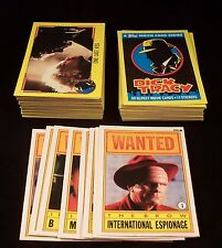 DICK TRACY Complete Trading Card Set with Stickers