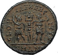 CONSTANS Authentic Ancient 337AD Antioch Genuine Roman Coin w SOLDIERS i67006
