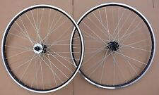 700c TRACK Wheelset Wheels Fixie Flip Flop SIngle speed Freewheel Fixed BLACK